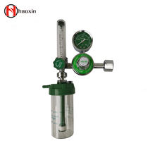 Good quality Full brass medical oxygen regulator with flow meter and humidifier