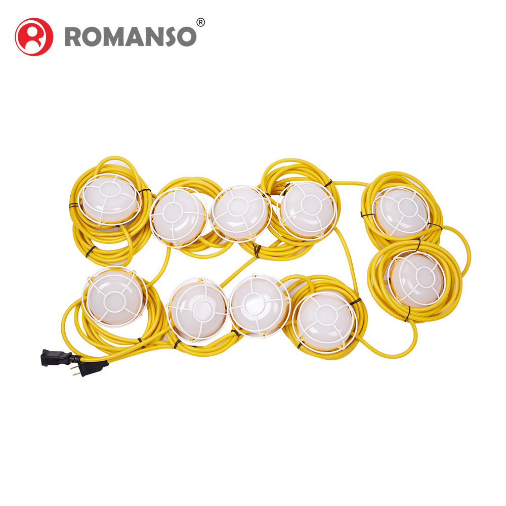 Romanso High Quality Waterproof Led Temporary Work Light String 40W 80W led String Lights