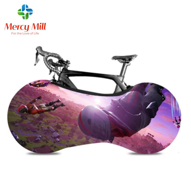 Bike Wheel Cover MTB Road Bicycle Accessories Custom Pattern Bicycle Protector Cover For Indoor Storage