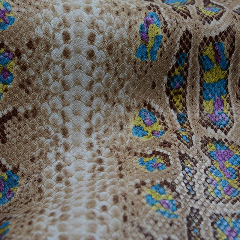 Snake Printed Synthetic Leather Fabric Pvc For Bags
