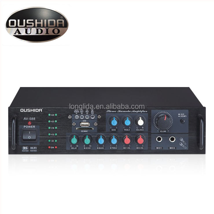 20w output power karaoke mixing amplifier with 4 ohms 3kg weight portable universal amplifier