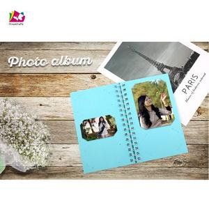 Good Selling Coil Binding Gold Foil Paper Wedding Photo Album Scrapbook