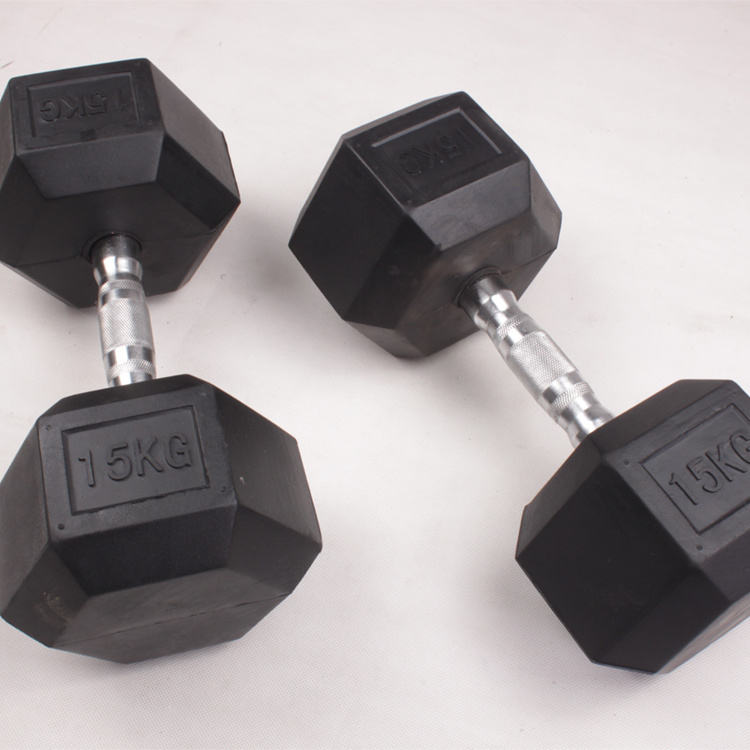 Hot Sale Gym Weight Lifting Fitness Body Building Hex 10kg Dumbbells