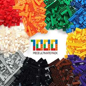 EXERCISE N PLAY Large Pack Regular Colors 1000PCS Building Bricks Toy Compatible with All Major Brands Toys for Children Gifts