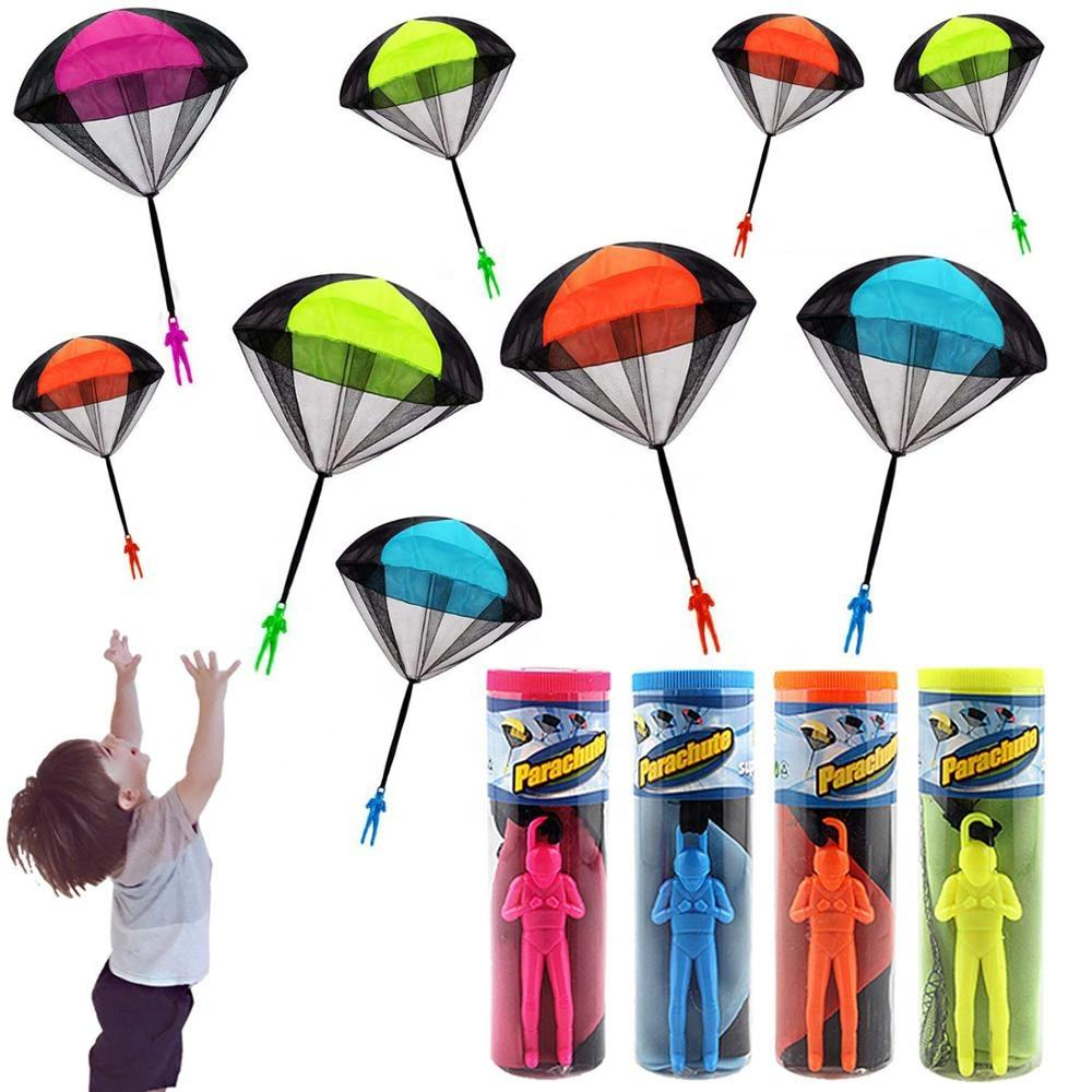 Wholesale Hand Throwing Mini Play Parachute Paratrooper Outdoor Games Children Educational Toys with Figure Soldier for Kids