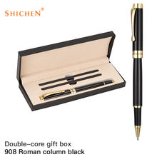 Design novel business gift metal pen set with custom logo hot pen set