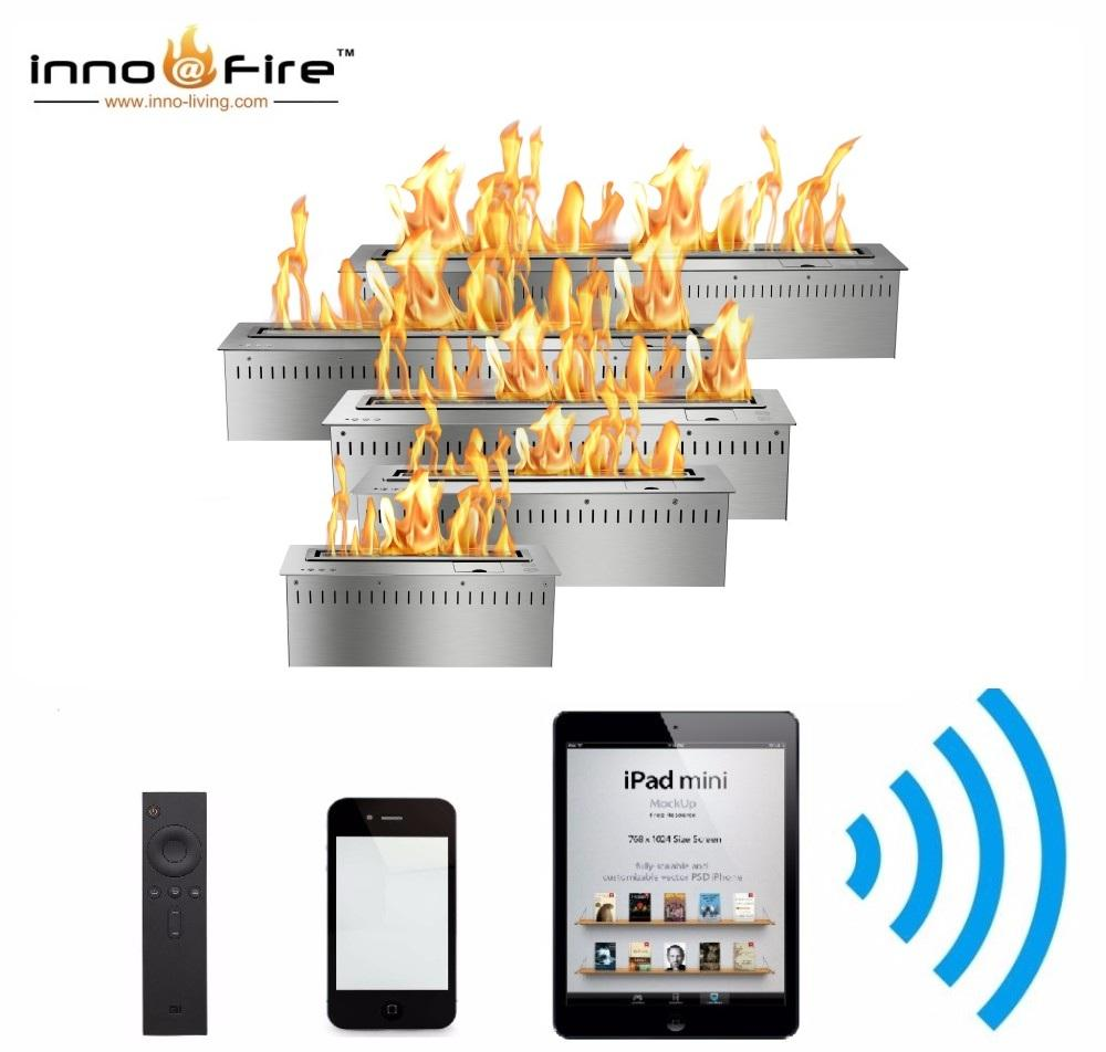 Inno living 60 inch intelligent remote bioethanol burner wifi fireplace