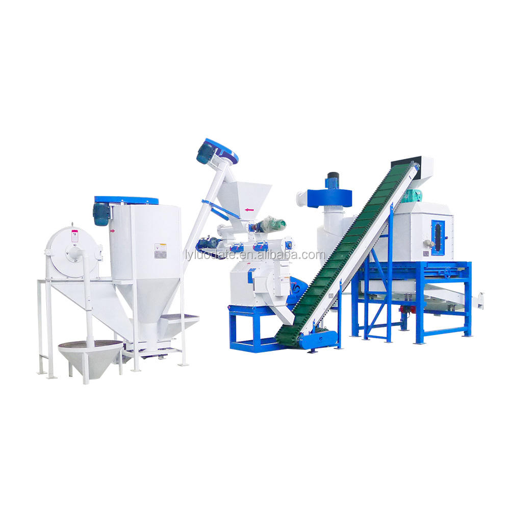 2020 news Feed Mill Plant/1 ton per hour floating fish feed mill plant/mash feed plant