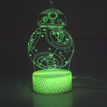 celestial body home decoration 3D Visual acrylic sleeping light switch atmosphere night lamp