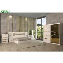 Cheap Home Furniture Painted 6 Pieces Wood MDF King / Queen Size Bedroom Sets