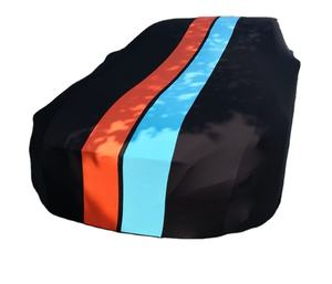 Rode Super Zachte Indoor Car Cover Met Strepen