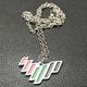 Hot sale Emirates new design logo UAE next 50 years flag color necklace 2020 uae nation brand flag 7 lines pendant
