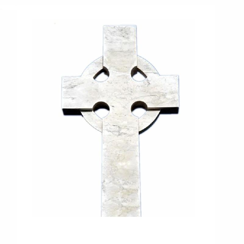 Tomb Stone Crucifix Cross, Marble Cross Headstone White Cemetery FIRST Stone Natural Stone by Order European 3 Years