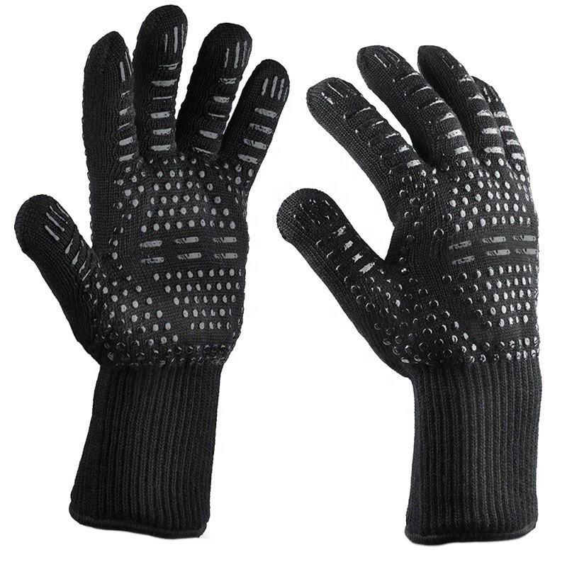 Flame Retardant Non Slip Fireproof Grill Insulation Microwave Oven High temperature Resistant BBQ Fire Gloves