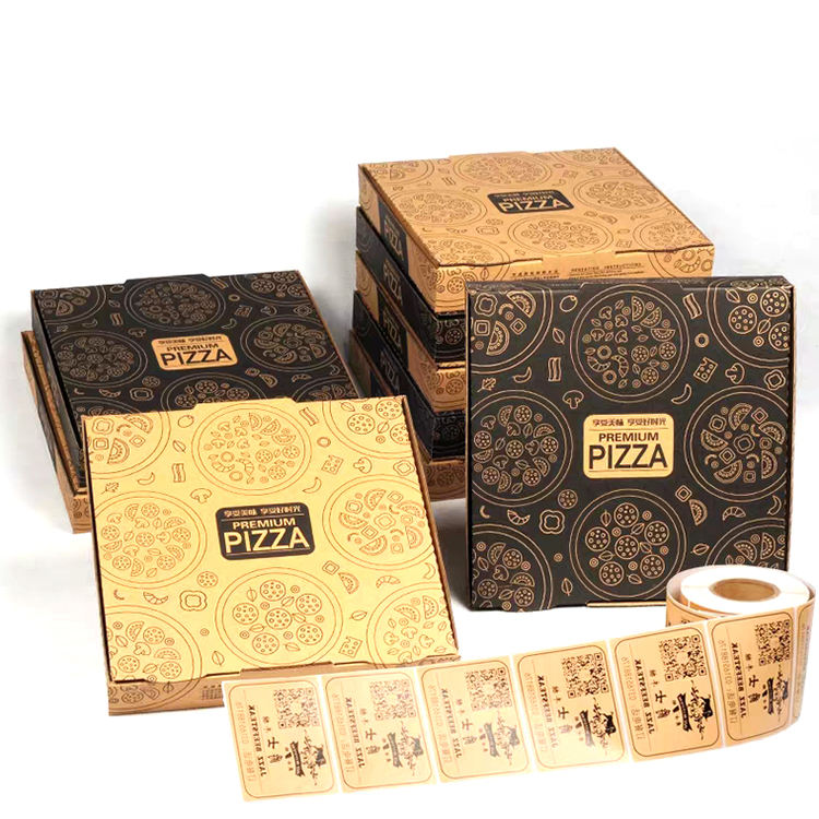 Cheap Wholesale Customized Logo Design 110 gsm brown kraft corrugated paper empty pizza boxes
