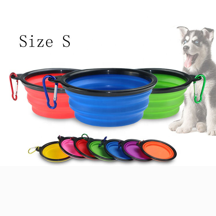 Small Water Folding Portable Travel Foldable Silicone Collapsible Food Pet Dog Bowl for Dog