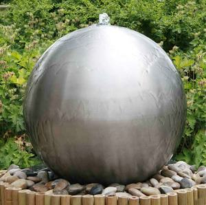 High quality stainless steel outdoor garden fountain ball water feature sphere fountain