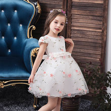 OEM 2020 Summer Girl Evening Wedding Dress Children Print Floral Princess Dresses Baby Birthday Tutu Kids Clothes 2017