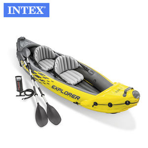 INTEX 68307 K2 KAYAK Inflatable Rowing Boat set Outdoor professional rowing boat Bring paddle For Sport Gaming