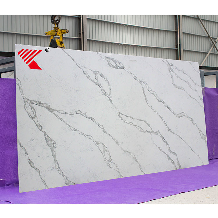 Wholesale Easy Maintain Stone Artificial Grey Quartz Stone Flooring Tile