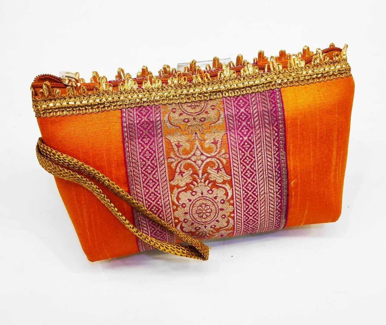 Indian Handmade Ethnic latest designs zipper pouch clutch coin purse wedding uses handbags