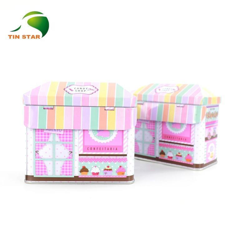 De grado de alimentos de Metal vacía frasco chico <span class=keywords><strong>casa</strong></span> en forma de caja de regalo de estaño contenedor con tapa