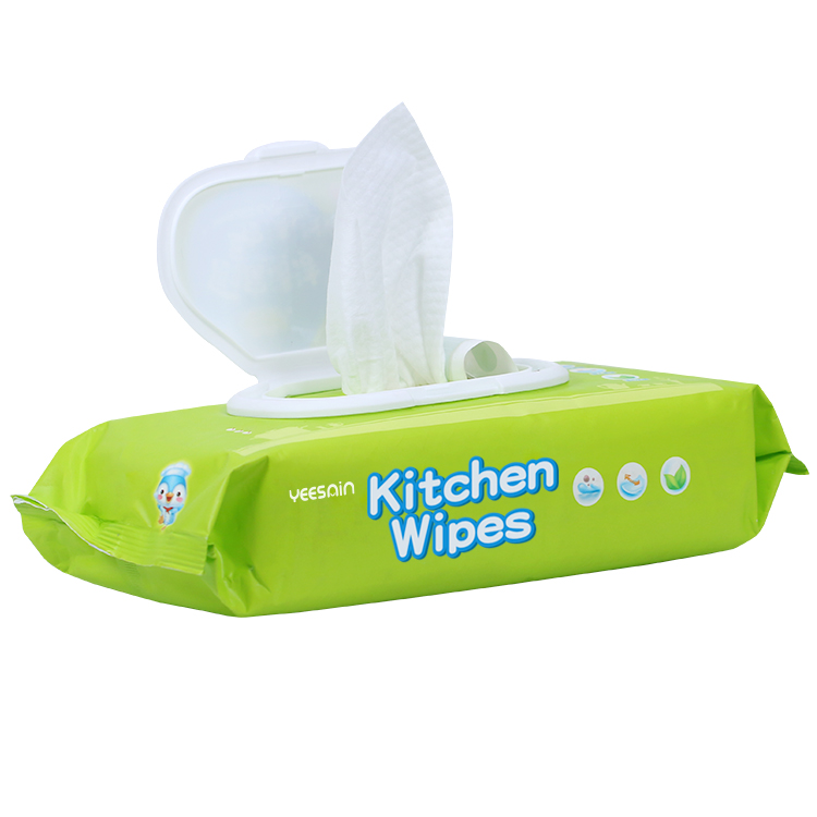 Disposable Ultra Compact Bamboo Kitchen Surface Clean Stain Removing Large Wet Wipe