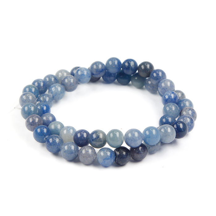 Stone Beads Loose High Quality Natural 8mm Blue Aventurine Stone Polished Natural Stone Loose Beads For Jewelry Making