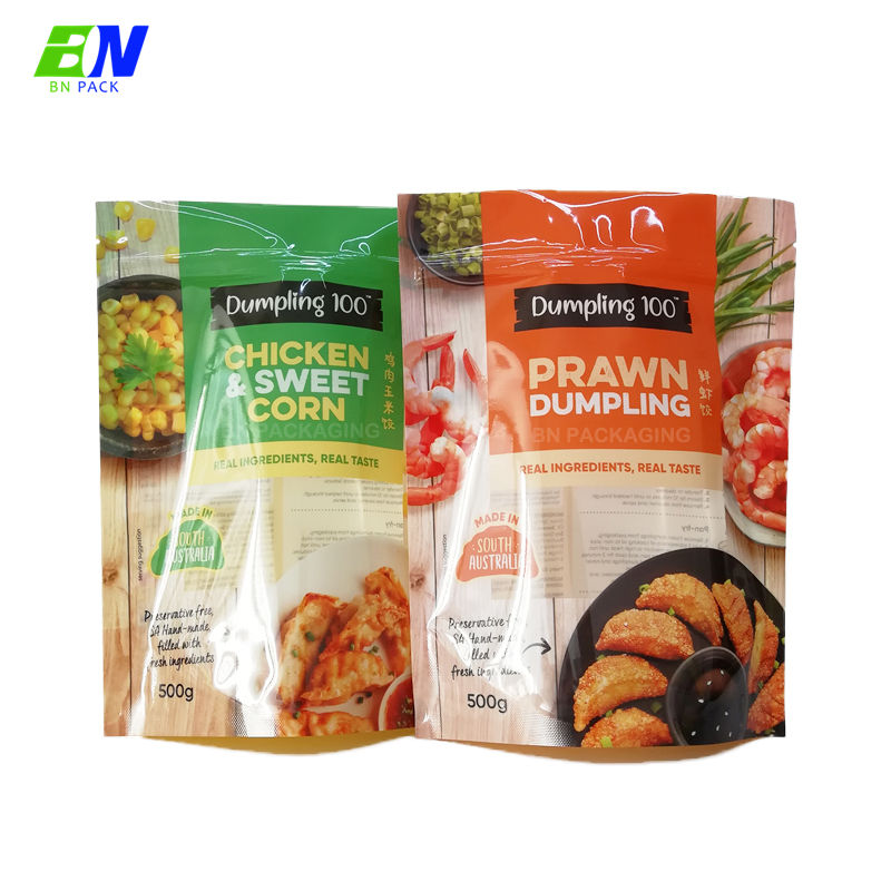 Resealable mylar ziplock bags plastic doypack bag retort pouch resist high temperature 135 degrees