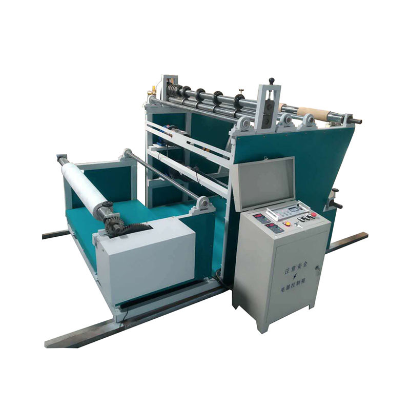 Automatic paper non woven slitting and rewinding machine