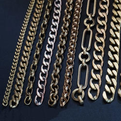 Pure Copper Decorative Brass Chain Bag Chain 100 mm Length
