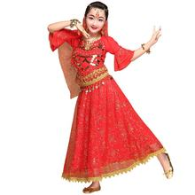 New arrival Handmade performance sequined belly dance costumes set for girls