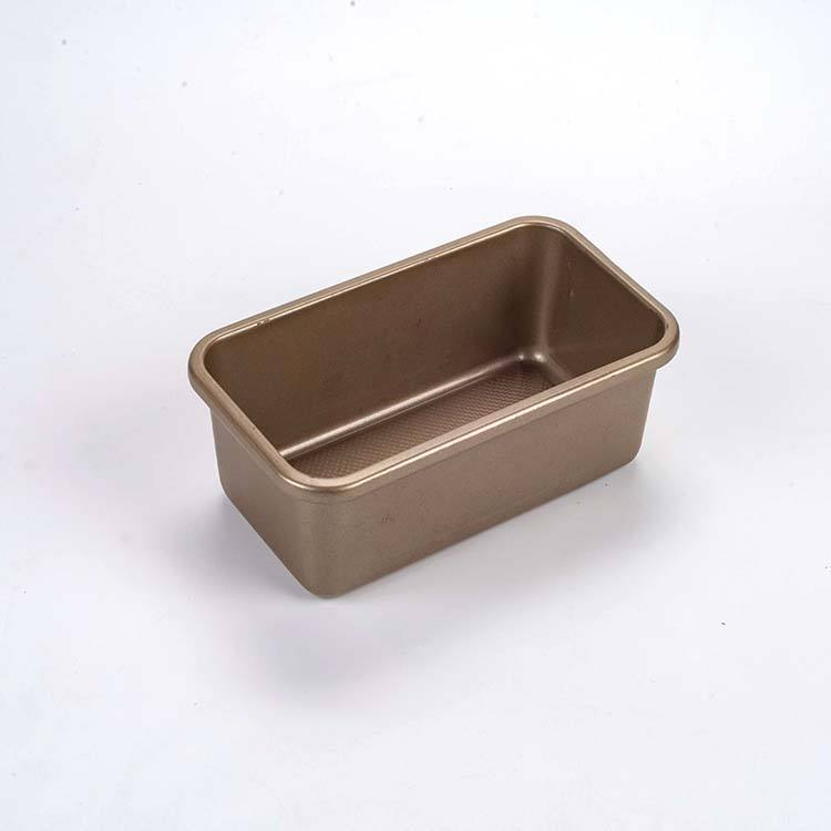 Durable using gold 0.8mm carbon steel nonstick loaf bread pan