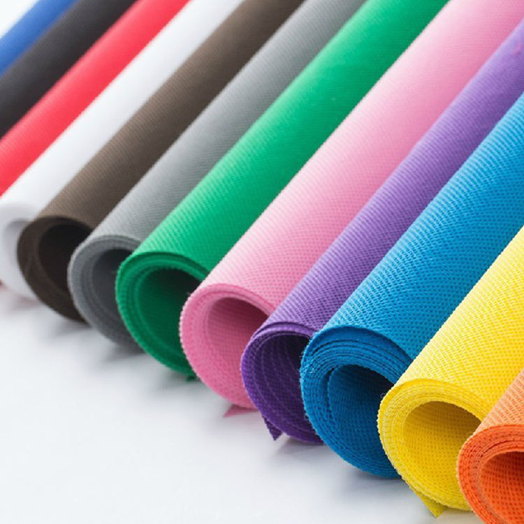custom eco-friendly pp non woven fabric 40gsm 50gsm 60gsm 70gsm colorful non-woven fabric rolls for handle bags