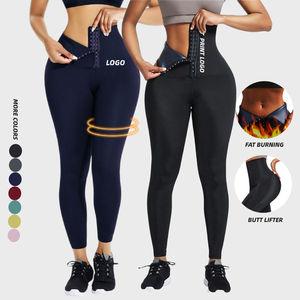 Fat Burning Butt Lifter Women Slimming Leg Shaper Thigh Eraser Shaper Custom Neoprene Waist Trainer Leggings Private Label