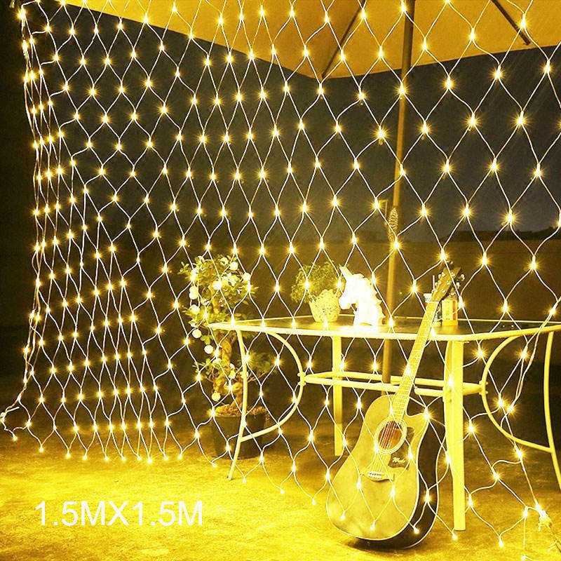 Christmas 3x2m LED Net Fairy web String Light twinkle mesh Lighting