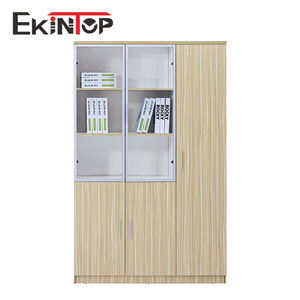 Ekintop china wooden locker draftsman combination singer furniture bookcases and book cabinet