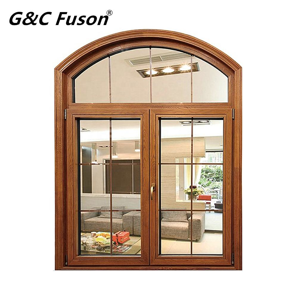 Arch Design Windproof Thermal-break Heat Insulated Custom Color and Size Aluminum Casement Window