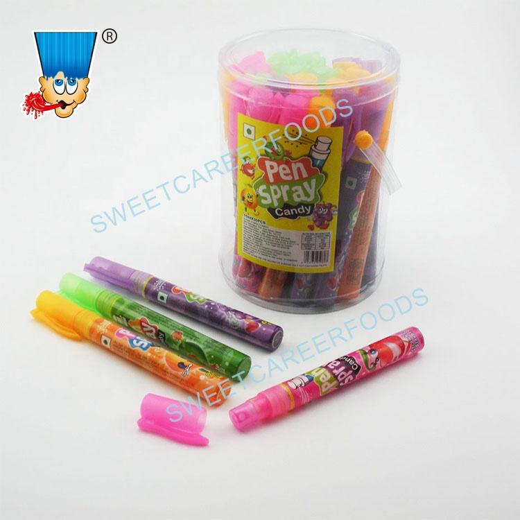 Fruit Flavor Pen Sour Spray Liquid Candy Sweets