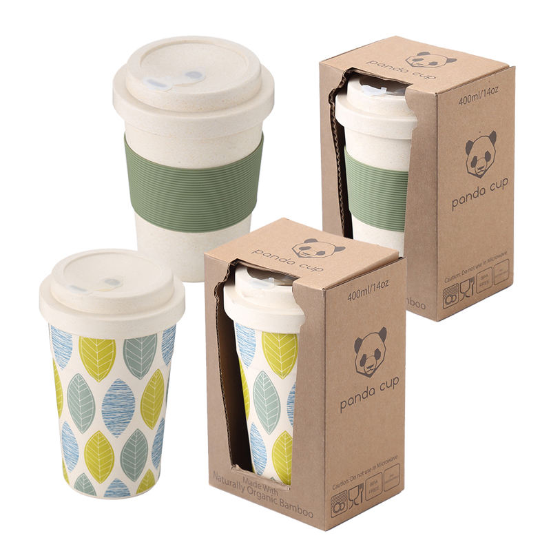 Innovative Reusable Eco Friendly Durable Bamboo Fiber Coffee Cup with Silicone Rubber