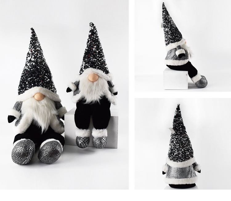Nordic Decor Gnome 2021 Sequin Gnome Nordic Naviad Crafts Christmas Gnome Luxury Gifts Felt Dolls Decoration Fabric Ornament With Super Soft Velvet