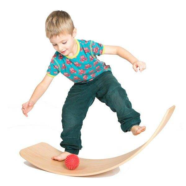 TOPKO eco friendly yoga wooden balance board fitness for kids