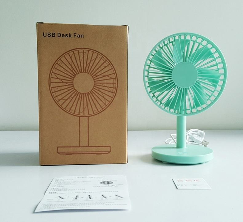 Fashionable Style Hand Free High Quality Small Portable Rechargeable Usb Mini Desktop Fan