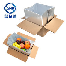 aluminum foil foam bubble insulated shipping box for frozen food,aluminum foil carton insulation aluminum box