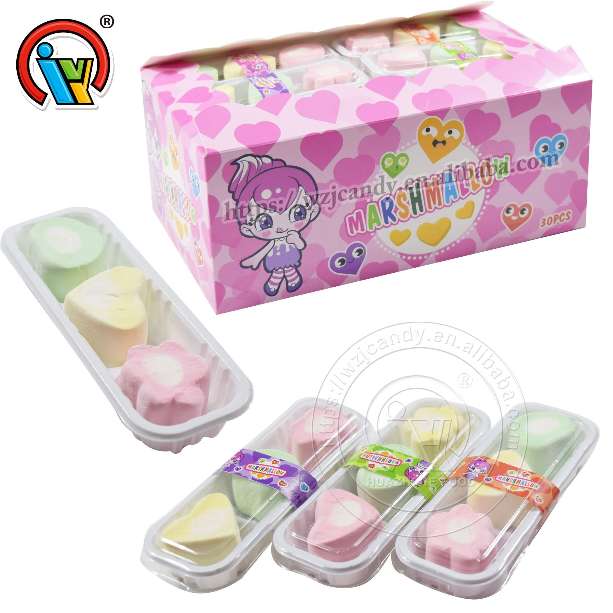3 in 1 different shape cotton candy marshmallow candy for kids
