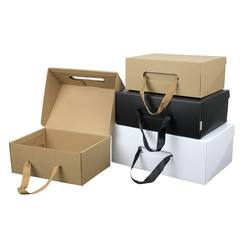 Custom Recyclable Fashion Design Foldable Packaging Shoe Boxes for Adults and Kids with Handle