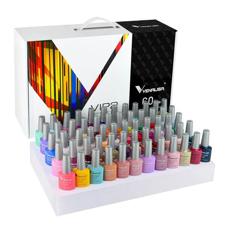 New Venalisa UV Gel Nail Polish Kit Nail Art 60 Color Private Label Acrylic UV Nail Gel Varnish Learner Enamel Gel Polish Kit