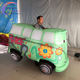 Cute inflatable cartoon bus walking car costume for street parade