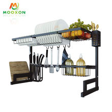 Kitchen Shelves Free Standing Rack Stainless Steel Kitchen Drying Storage Rack