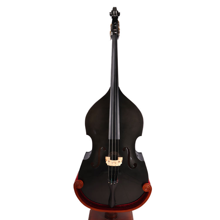 Chinese manufacture black student plywood double bass 4/4